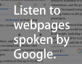 Google Go将每个网页变成一个播客