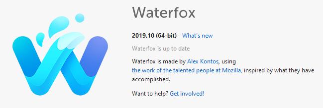 Waterfox开发分为经典分支和当前分支