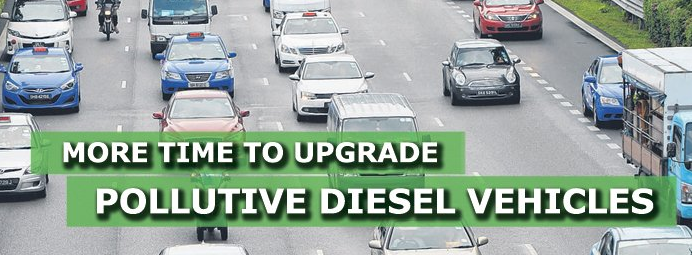 更多时间来升级污染性柴油车
