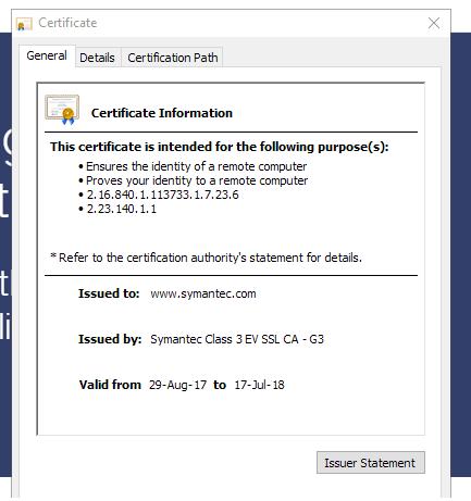 Google 不信任Chrome中所有Symantec证书的时间表