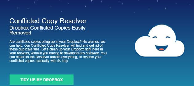 带有冲突副本解析器的可用Dropbox空间