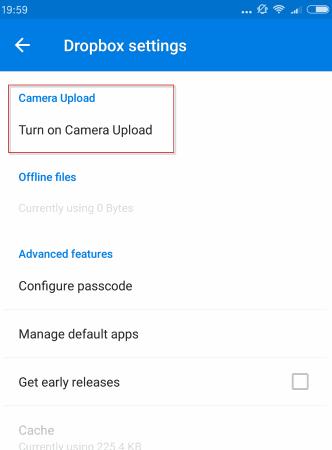 Dropbox更改了相机上传功能