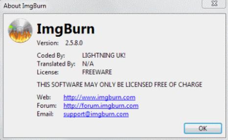 流行的免费光盘刻录软件ImgBurn的新版本今天发布