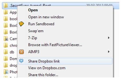 Dropbox为桌面引入了快速共享选项