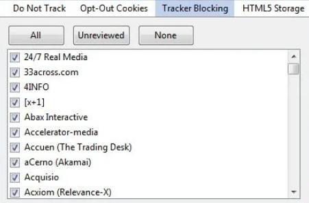 不想被在线追踪 使用TrackerBlock