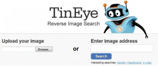 TinEye可以进行图像搜索