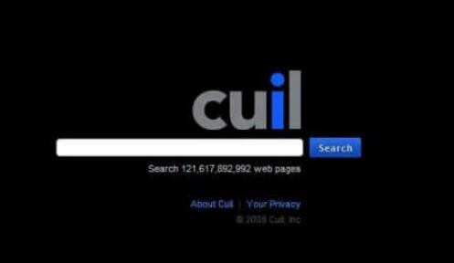 Cuil向我们展示了一个简单的快速加载首页