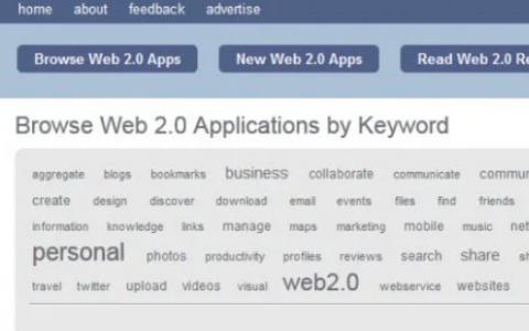 Go2Web2.0是一个设计欠佳的网站