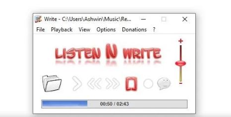 使用Listen N Write转录录音中的文本