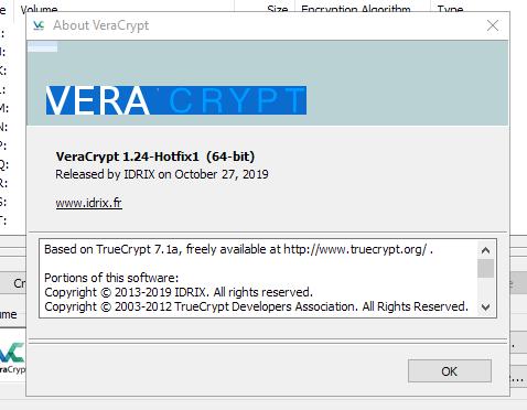 发布了VeraCrypt 1.24加密软件的修补程序