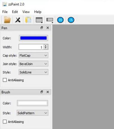 zzPaint是便携式图像编辑器