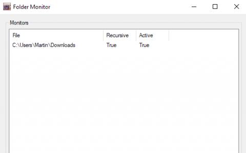使用文件夹监视器在Windows上监视文件夹