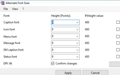 自定义字体大小而无需在Windows 10中缩放