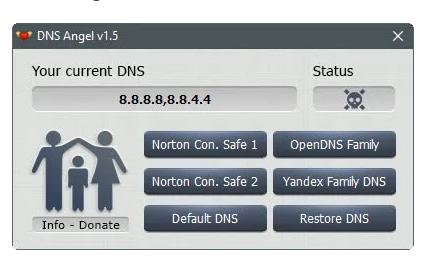 DNS天使 单击即可启用家庭保护