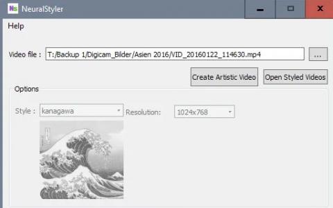 NeuralStyler 将视频变成艺术