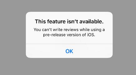 苹果阻止运行iOS Beta的用户对App Store的评论