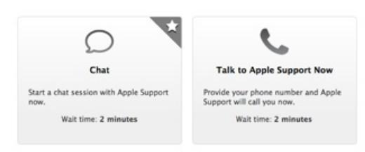 新的AppleCare网站 推出了24 7聊天支持