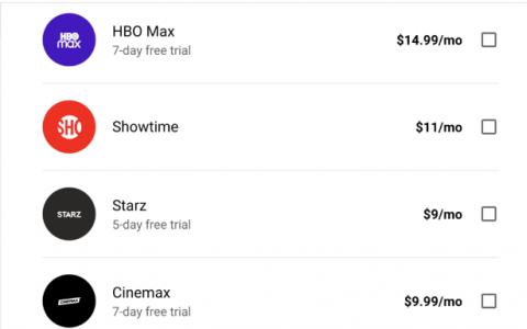 您现在可以通过YouTube电视订阅Cinemax HBO和HBO MAX