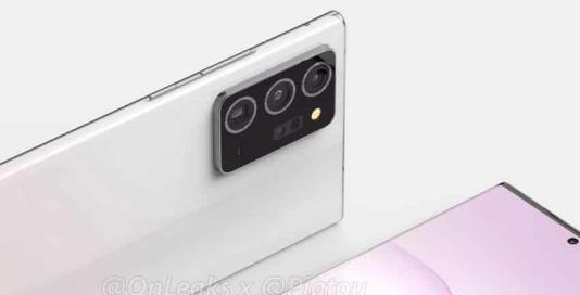 泄漏的渲染图揭示了三星Galaxy Note 20设计