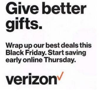 Verizon的黑色星期五广告泄漏