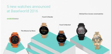Fossil Nixon和Michael Kors宣布推出新的Android Wear智能手表