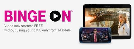 TMobile放大器BingeOn再次添加免费的YouTube流