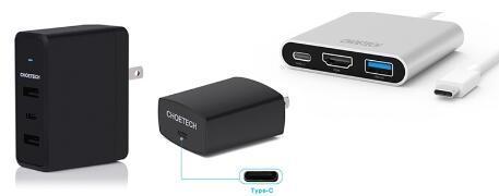 查看Choetech的一些USB C电缆和配件