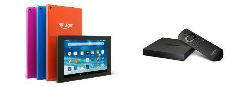 亚马逊宣布推出用于Fire平板电脑和Fire TV产品组合的七种新设备