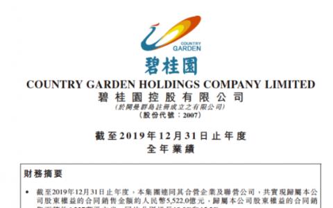 碧桂园2019业绩稳步提升把握市场主流需求