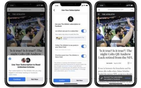 Facebook测试将用户个人资料与新闻订阅相关联 以终止重复登录
