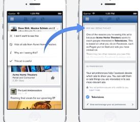 Facebook将允许用户更改其广告资料跟踪您的智能手机使用情况