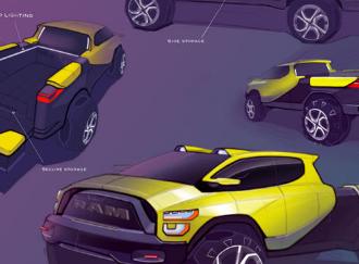 菲亚特克莱斯勒汽车公司每年都为高中学生举办一次汽车草图竞赛