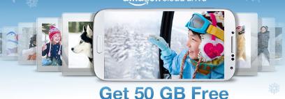 亚马逊通过购买精选Android设备提供50GBCloudDrive