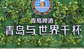 青岛与世界干杯跃然眼前千人举杯百桌坐落的景象令不少市民游客惊叹