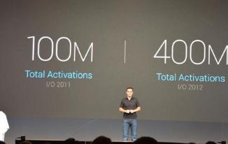 Android到目前为止已有超过4亿台设备被激活-每天激活次数超过一百万