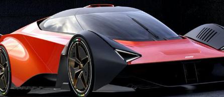 蓝旗亚斯特拉托斯被重新塑造成令人惊叹的复古风格超级跑车