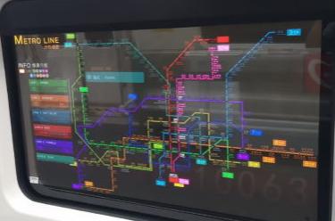 LG用透明的OLED显示屏取代地铁列车窗口
