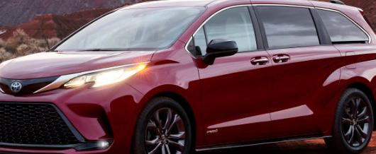 丰田汽车推出了经过彻底改造的2021年丰田赛纳