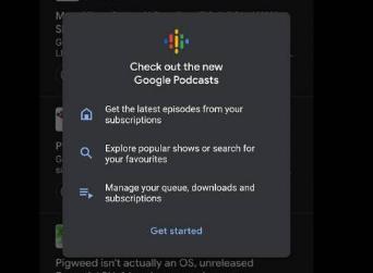 谷歌Podcasts及时得到新外观和新功能