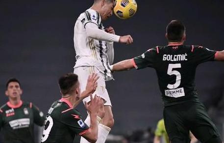 意甲联赛第23轮尤文对阵克罗托内 C罗头球梅开二度 麦肯尼锦上添花