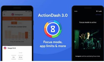 ActionDash3.0推出了用法助手应用程序限制和焦点模式