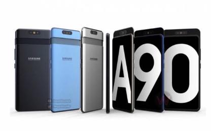 三星GalaxyA90智能手机不会附带滑动相机