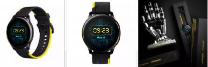 OnePlusWatchCyberpunk2077限量版现已在中国预购带有酷炫的手形支架