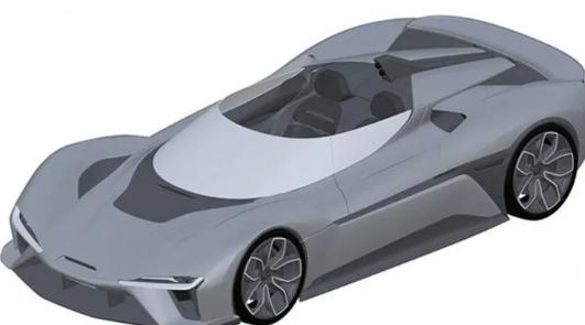 蔚来为EP9电动超级跑车的敞篷版申请了专利