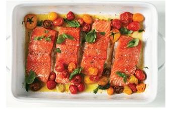 慢烤三文鱼和樱桃番茄怎么制作