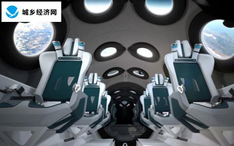 维珍银河的SpaceShipTwo机舱将窗户包围着您