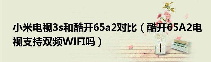 小米电视3s和酷开65a2对比(酷开65A2电视支持双频WIFI吗)