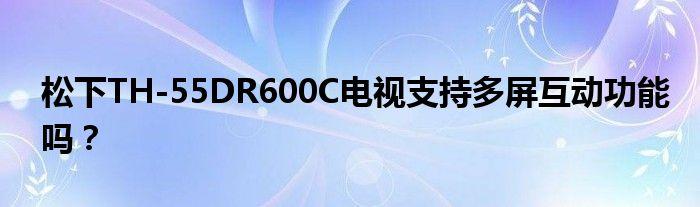 松下TH-55DR600C电视支持多屏互动功能吗?